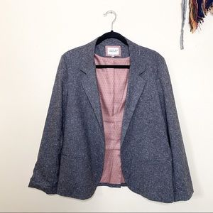 H81 • oversized grey open blazer